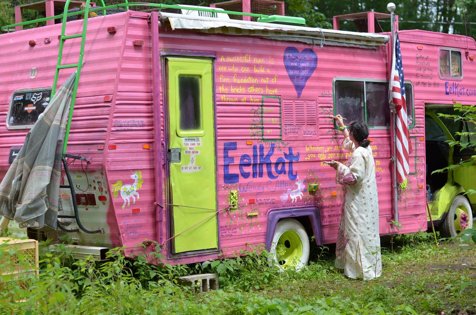 Monster Truck No Hurry as Gypsy Caravan RoseBud - Outside
