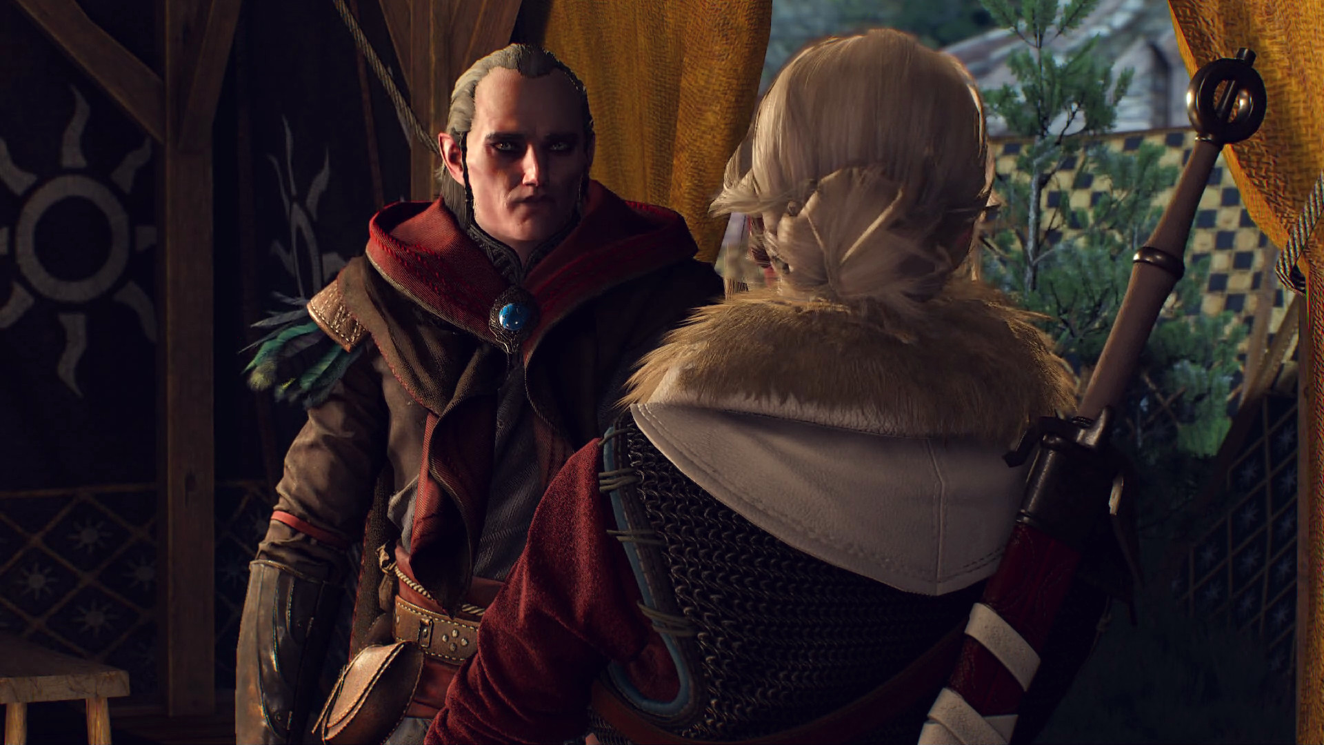Avallac'h and Ciri arguing, like usual
