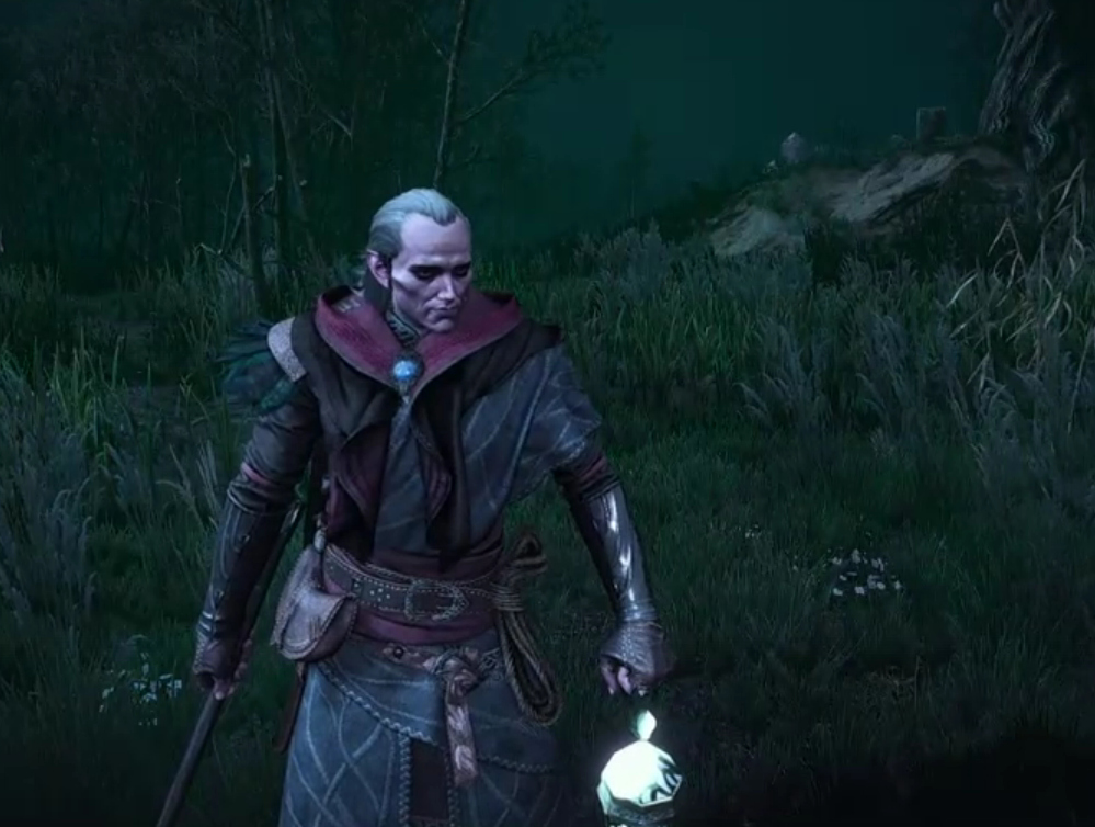 Avallac'h with his wraith lamp