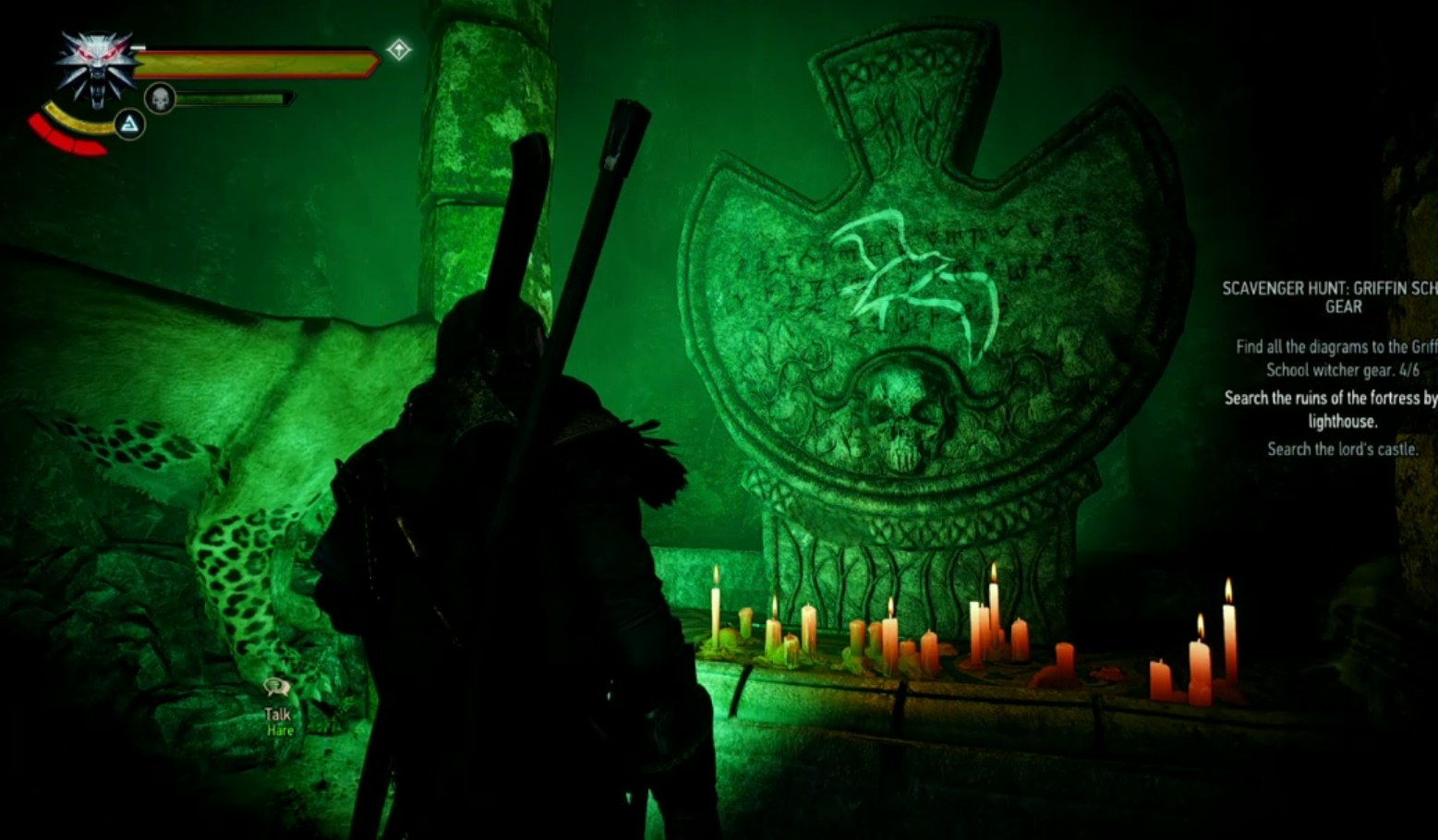 Avallac'h with his wraith lamp at Lara Dorren's Tomb