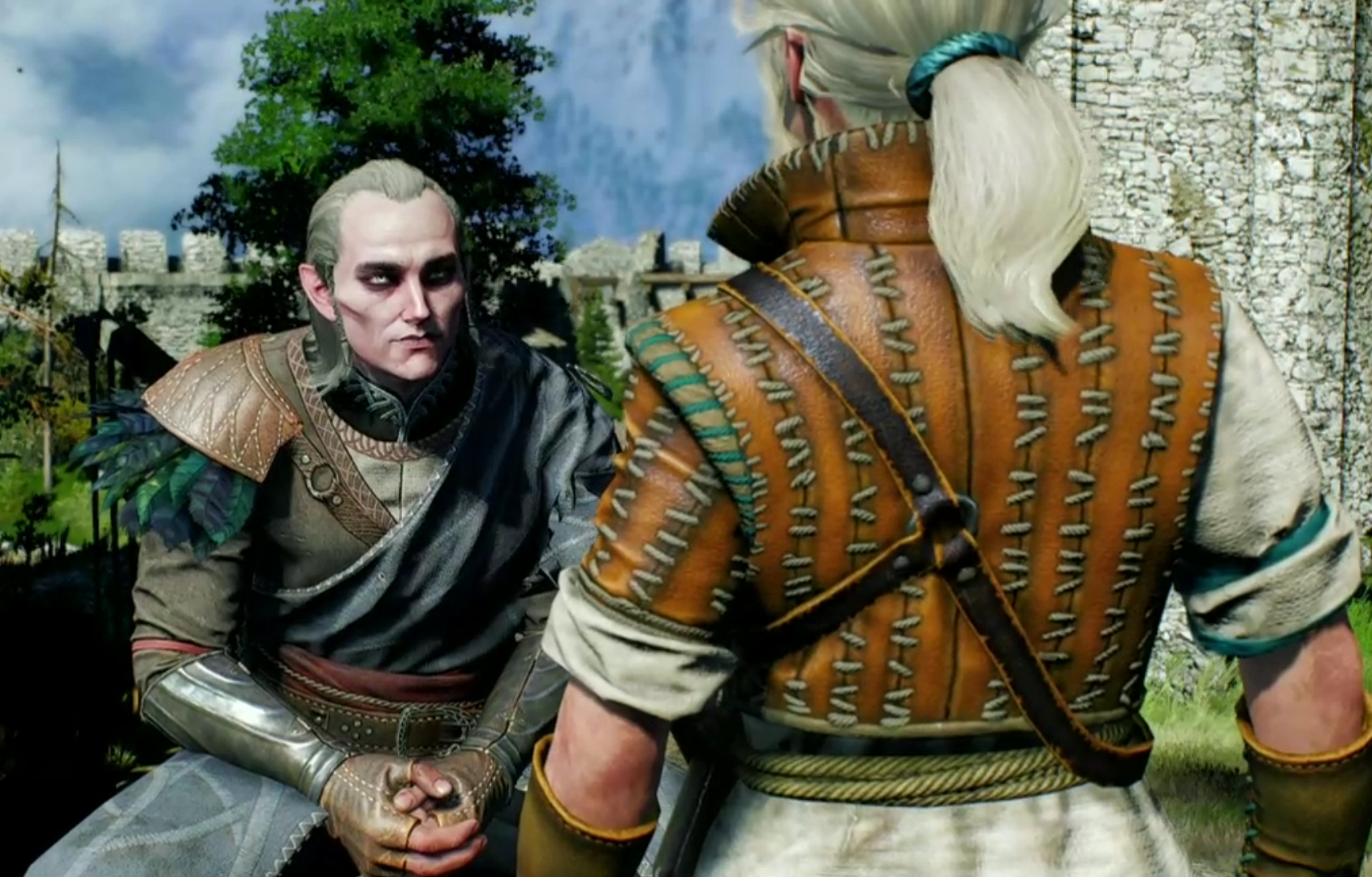 Avallac'h with 12 year old Ciri... the age she was when she was in those 22 sex scenes with Avallac'h, King Auberon, and Eredin, in Chapter 5 of the novel Lady of the Lake