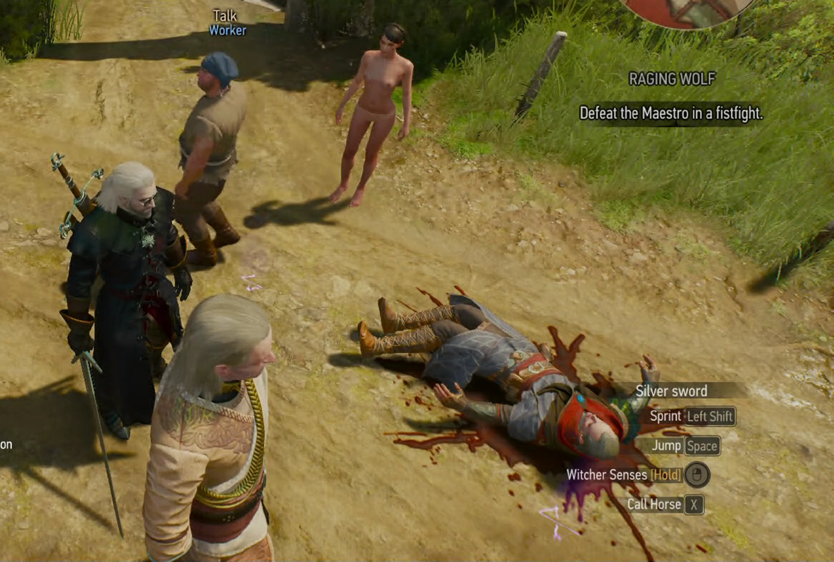 Avallac'h... dead. So many Ciri fans must be so please. Geralt and Ge'els are wondering what killed him. He was alive just a minute ago.