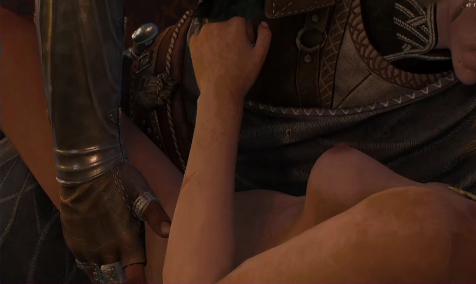 witcher 3 ciri nude naked sex scene boobs breast nipples topless