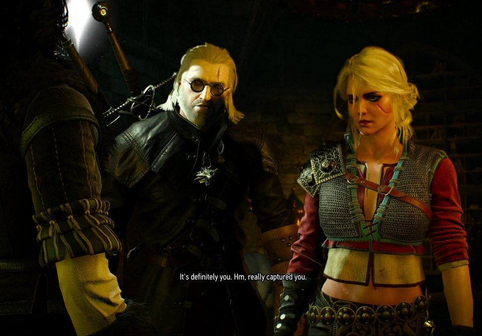 Avallac'h in the game... Pali Gap - In Avallac'h's House: Geralt & Ciri Horrified By Avallac'h's Porn Collection and the fact that it's all pictures of Ciri...