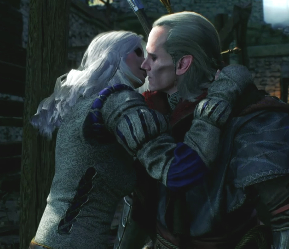 My favorite picture. Ciri Kissing Avallac'h