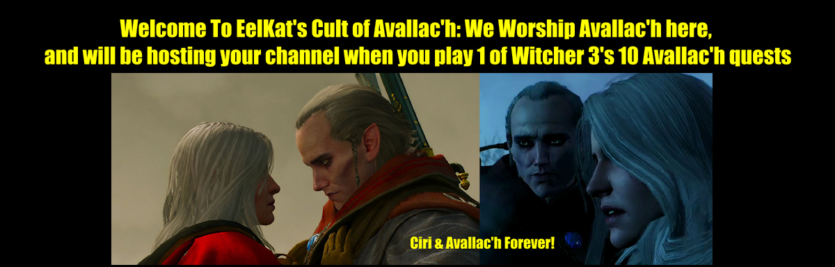 Ciri and Avallac'h Forever - Banner for The Cult of Avallac'h