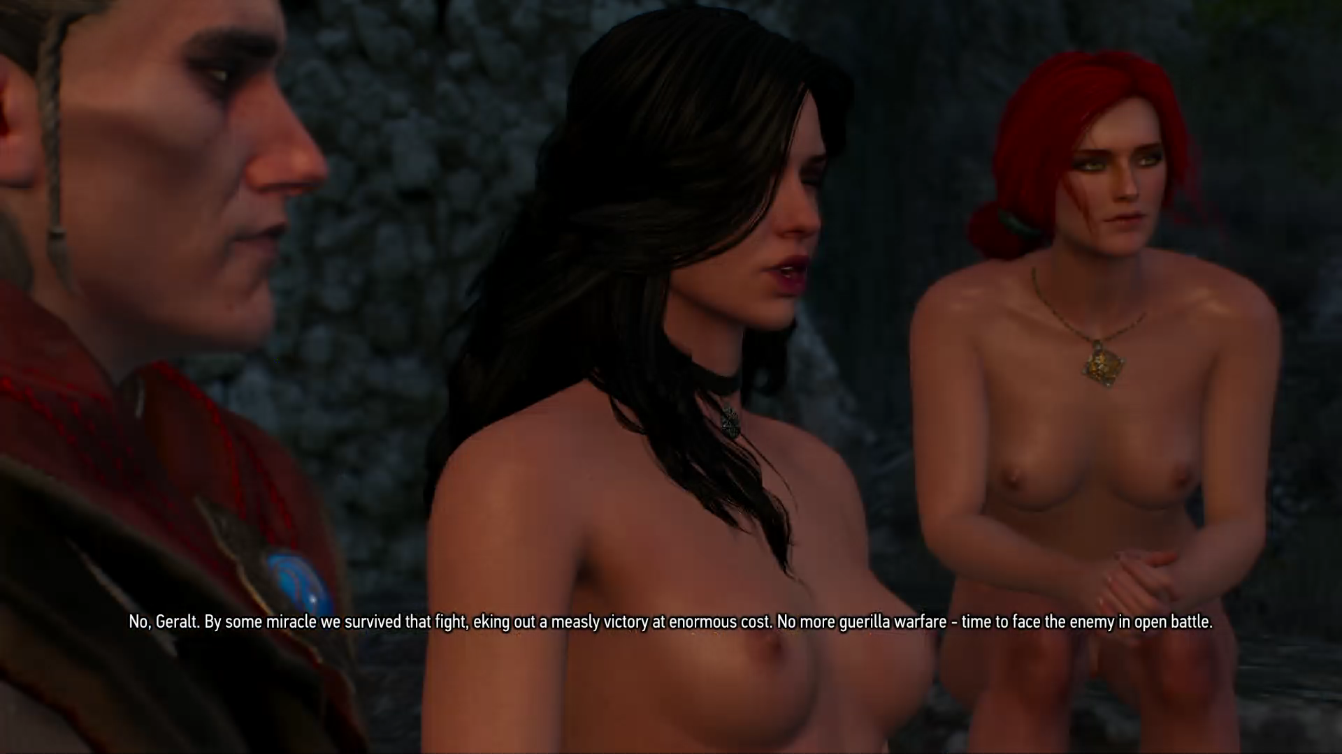 Avallac'h with nude Yennefer and naked Triss Merigold, because, you always knew you wanted this picture added here.